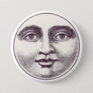 Botão da cara de lua do vintage bóton redondo 7.62cm