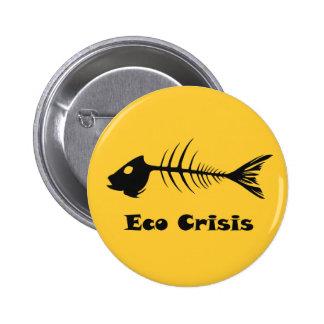 Botão da crise de Eco do Fishbone Bóton Redondo 5.08cm