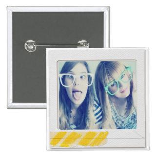 botão da foto do instagram bóton quadrado 5.08cm