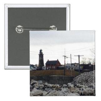 Botão da foto do porto de Fairport Bóton Quadrado 5.08cm