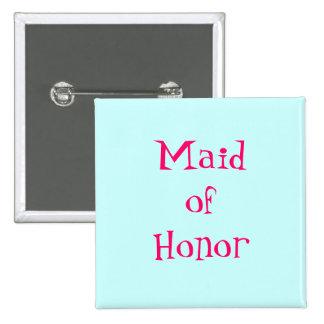 Botão da madrinha de casamento bóton quadrado 5.08cm