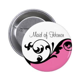 Botão da madrinha de casamento bóton redondo 5.08cm