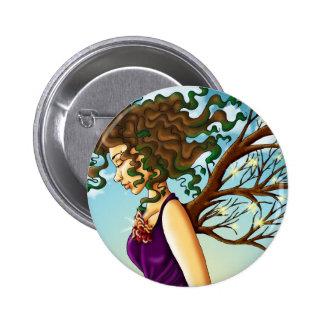 Botão da Mãe Terra Bóton Redondo 5.08cm
