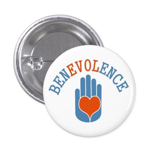 Botão da mão do amor da benevolência boton