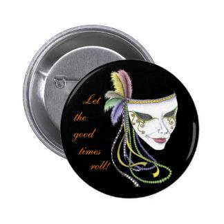 Botão da máscara do carnaval bóton redondo 5.08cm