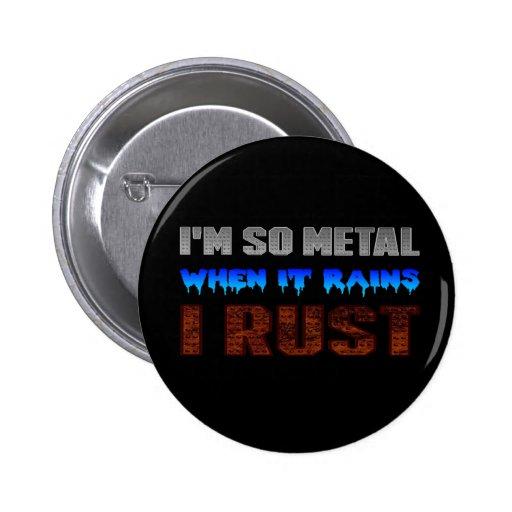 Botão da oxidação do metal bóton redondo 5.08cm