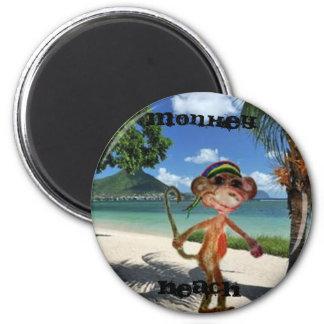 Botão da praia do macaco imas de geladeira