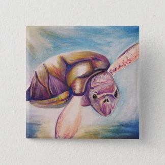 Botão da tartaruga bóton quadrado 5.08cm