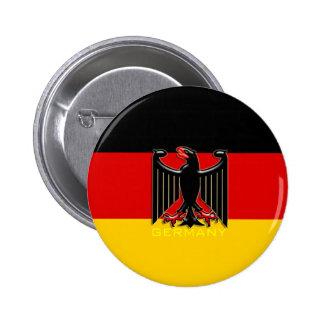 Botão de brasão da bandeira de Alemanha Bóton Redondo 5.08cm