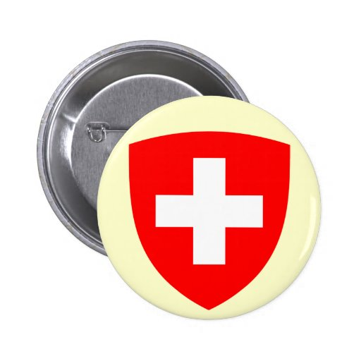 Botão de brasão da suiça botons