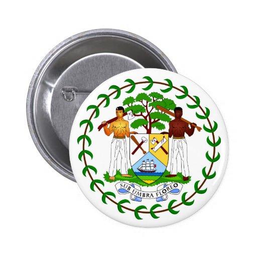 Botão de brasão de Belize Boton