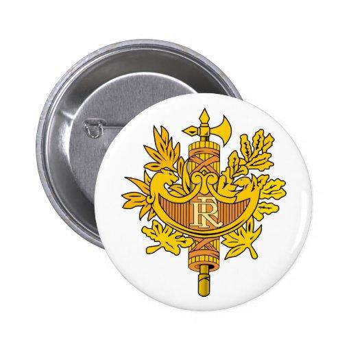 Botão de brasão de France Pins