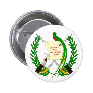 Botão de brasão de Guatemala Bóton Redondo 5.08cm
