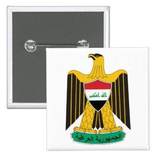 Botão de brasão de Iraque Bóton Quadrado 5.08cm