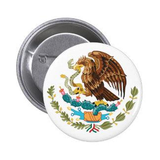 Botão de brasão de México Bóton Redondo 5.08cm