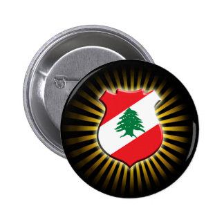 Botão de brasão libanês bóton redondo 5.08cm
