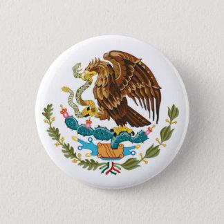 Botão de brasão mexicano bóton redondo 5.08cm