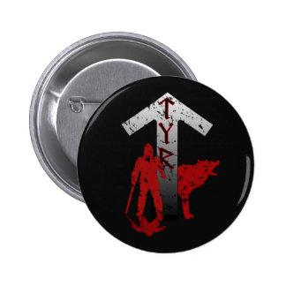 Botão de Tyr e de Fenrir Bóton Redondo 5.08cm