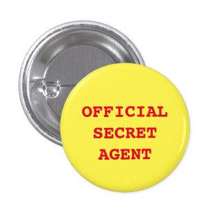 """""""Botão do agente secreto/espião"""" Bóton Redondo 2.54cm"""