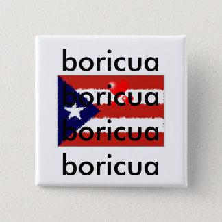 Botão do amor de Boricua Bóton Quadrado 5.08cm