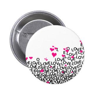 Botão do amor do dia dos namorados pins