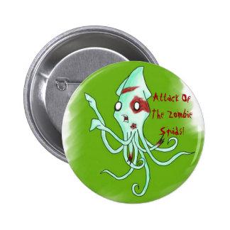 Botão do calamar do zombi bóton redondo 5.08cm