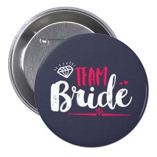 Botão do casamento da festa de solteira da noiva bóton redondo 7.62cm
