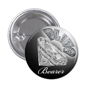 Botão do casamento do portador de BLING Bóton Redondo 2.54cm