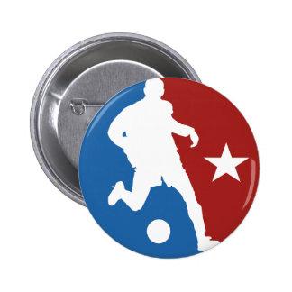 Botão do costume do jogador de futebol bóton redondo 5.08cm