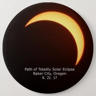 Botão do eclipse solar bóton redondo 15.24cm