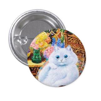 Botão do gato de Louis Wain, gato engraçado do Bóton Redondo 2.54cm