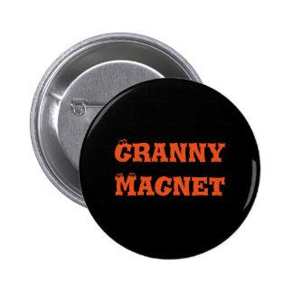 Botão do ímã da avó bóton redondo 5.08cm