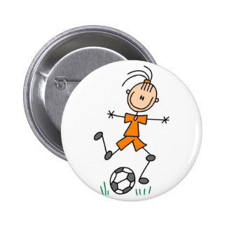 Botão do jogador de futebol da menina boton