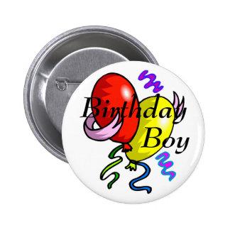 Botão do menino do aniversário bóton redondo 5.08cm