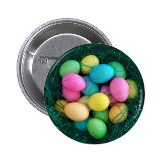 Botão do ninho do ovo da páscoa bóton redondo 5.08cm