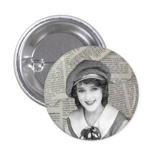 Botão do Nymphet de Mary Pickford Bóton Redondo 2.54cm