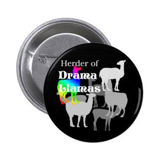 Botão do pastor do lama do drama bóton redondo 5.08cm