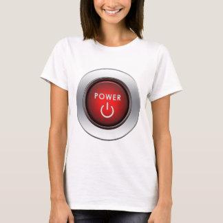 Botão do poder camiseta