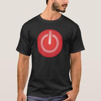 Botão do poder t-shirts