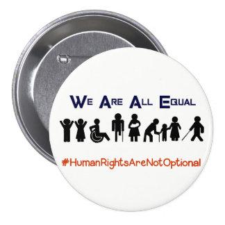 Botão do protesto da inabilidade da igualdade dos bóton redondo 7.62cm
