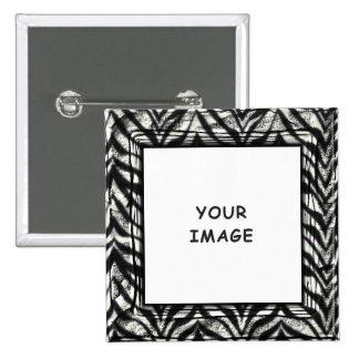Botão do quadro da foto da zebra botons