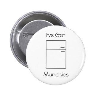 Botão do refrigerador do logotipo bóton redondo 5.08cm