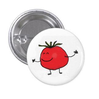 Botão do tomate bóton redondo 2.54cm