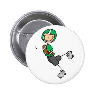 Botão do verde do jogador de futebol bóton redondo 5.08cm