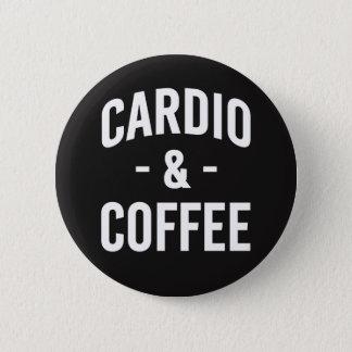 Botão engraçado cardio- e do café bóton redondo 5.08cm