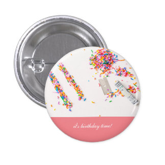 Botão engraçado customizável do aniversário bóton redondo 2.54cm