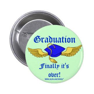 Botão engraçado da graduação bóton redondo 5.08cm