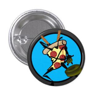 BOTÃO ENGRAÇADO DA PIZZA DE NINJA BÓTON REDONDO 2.54CM