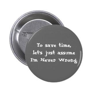 Botão engraçado das citações bóton redondo 5.08cm