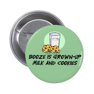 Botão engraçado das citações das bebidas bóton redondo 5.08cm